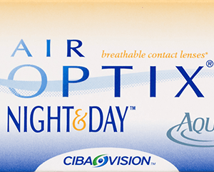 AIR OPTIX NIGHT AND DAY AQUA Lentes de contacto respirables con los que se puede domir hasta un mes.