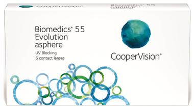 BIOMEDICS 55 EVOLUTION ASPHERE, Lentes de contacto para corrección de miopía e hipermetropía.