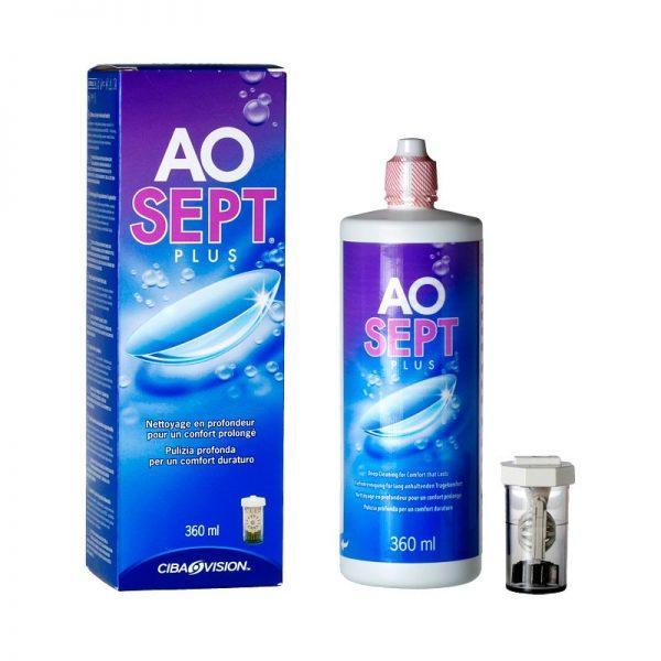 AOSEPT PLUS Solución desinfectante para lentes de contacto
