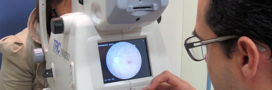 Examen de la vista, autorrefractómetro