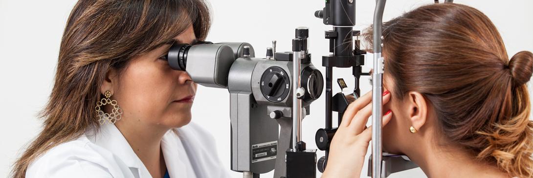 Examen de la vista, lampara de hendidura