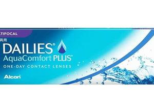 Dailies Aqua Comfort Plus Multifocal, Lentes de contacto para la presbicia, caja con 30 lentes de contacto.