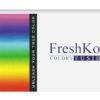 Freshkon Colors Fusion Dazzlers, Pupilentes de colores con graduación para miopia e hipermetropía de uso mensual, caja con 2 lentes.