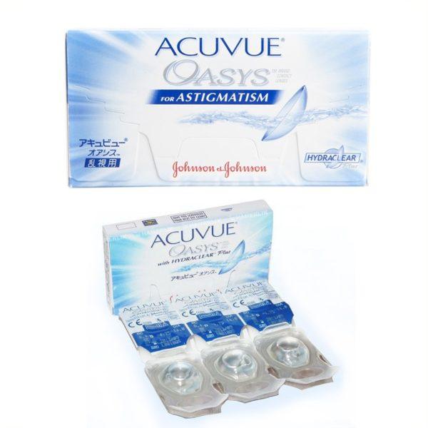 Acuvue Oasys, lentes de contacto para astigmatismo, caja con 6 lentes de  contacto ( 8ae04f0068