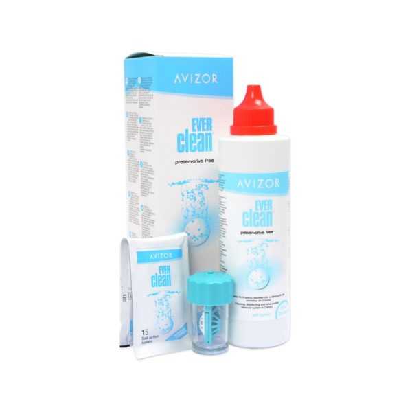 Ever clean 225 ml, Solución para limpieza y desinfección de lentes de contacto.