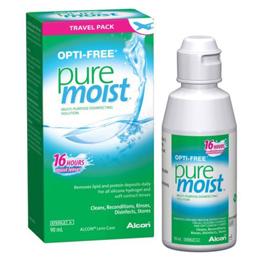 Optifree Pure moist 90 ML, solución multiproposito para lentes de contacto