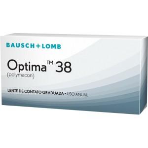 Optima 38, lentes de contacto para miopía de duración anual. Caja con 1 lente.
