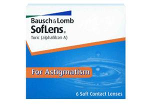 Soflens 66 Tóricos, lentes de contacto para astigmatismo, caja con 6 lentes de contacto (3 pares).